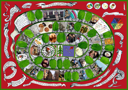2011 a3 card a board game about the family year - Christmas Card Games